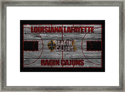 Louisiana Lafayette Ragin Cajuns Framed Print