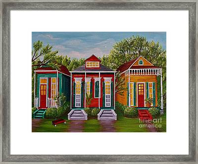 Louisiana Loves Shotguns Framed Print