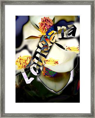 Louisiana Magnoila  Framed Print