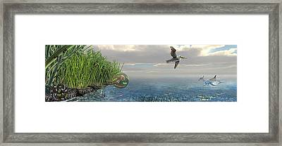 Louisiana Oil Spill Recovery Framed Print by Nicolle R. Fuller