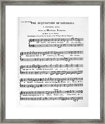 Louisiana Purchase Song Framed Print