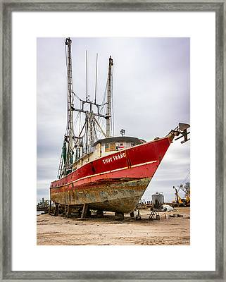 Louisiana Shrimp Boat 2 Framed Print by Steve Harrington