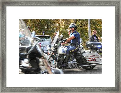 Louisiana State Police At The Redneck Parade Framed Print