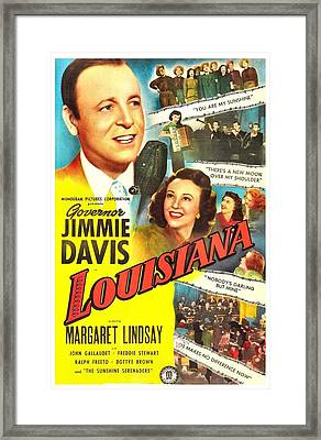 Louisiana, Us Poster, From Left Jimmie Framed Print