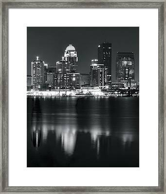Louisville Across The Ohio River Framed Print by Frozen in Time Fine Art Photography