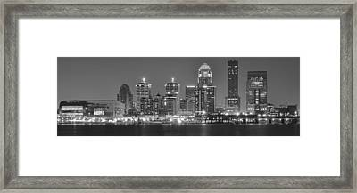 Louisville Black And White Panorama Framed Print by Frozen in Time Fine Art Photography