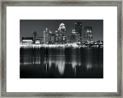 Louisville Black As Night Framed Print by Frozen in Time Fine Art Photography