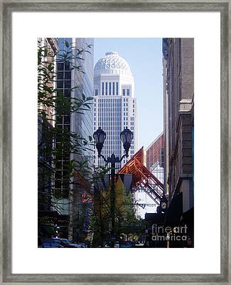 Louisville Buildings 2 Framed Print by Jennifer E Doll