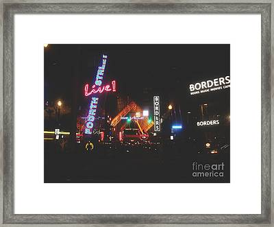 Louisville Kentucky Misty Nights Framed Print