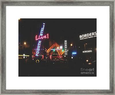 Louisville Kentucky Misty Nights Framed Print