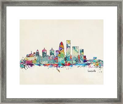 Louisville Kentucky Skyline Framed Print