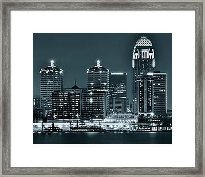 Louisville Lights Framed Print by Frozen in Time Fine Art Photography