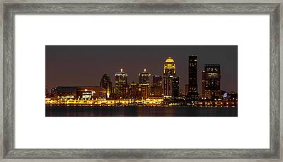 Louisville Skyline Framed Print