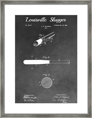 Louisville Slugger Baseball Bat Framed Print