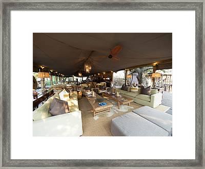 Lounge Area, Toka Leya Camp, Zambezi Framed Print by Panoramic Images