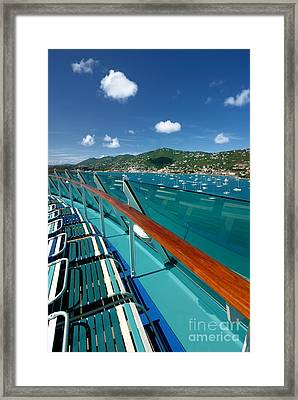 Lounge Chairs On Cruise Ship Framed Print by Amy Cicconi