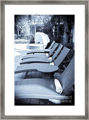 Lounge Chairs Framed Print by Sophie Vigneault