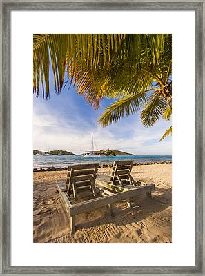 Lounging At The Bitter End Framed Print