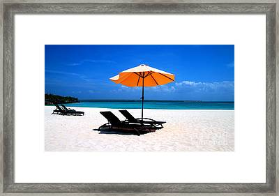 Framed Print featuring the photograph Lounging By The Sea by Joey Agbayani