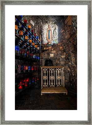 Lourdes Grotto In New Orleans Framed Print