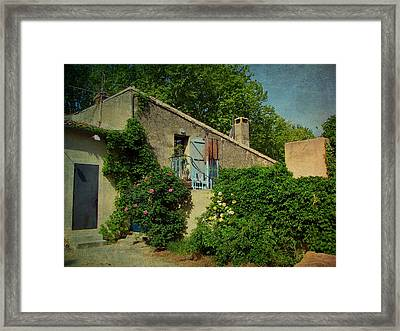 Lourmarin Cottage Framed Print by Carla Parris
