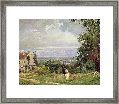 Louveciennes, 1870 Framed Print by Camille Pissarro