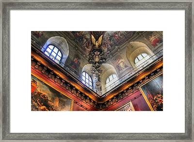 Framed Print featuring the photograph Louvre Ceiling by Glenn DiPaola