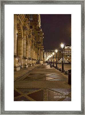 Louvre Courtyard Framed Print by Crystal Nederman