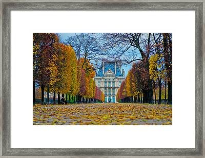 Louvre In Fall Framed Print