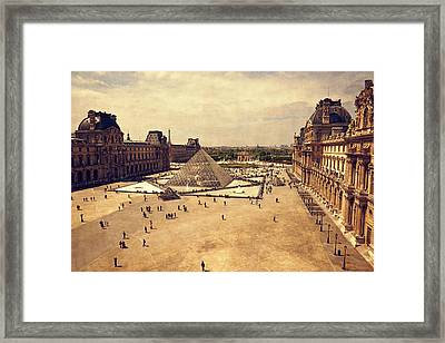 Louvre Museum Framed Print by Maria Angelica Maira