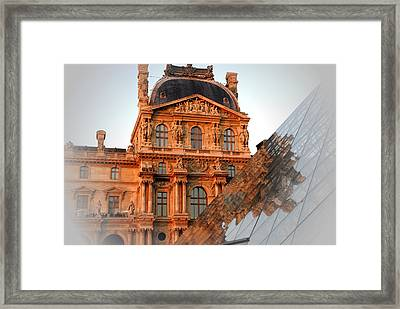 Louvre And Pei Framed Print by Jacqueline M Lewis