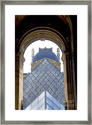 Louvre Palace Museum.paris. France Framed Print by Bernard Jaubert