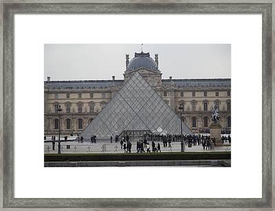 Louvre - Paris France - 011311 Framed Print