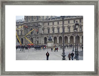 Louvre - Paris France - 011324 Framed Print
