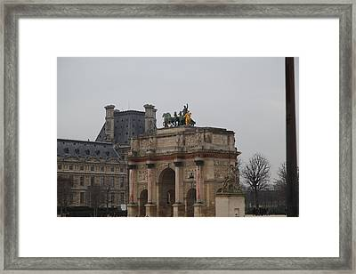 Louvre - Paris France - 011325 Framed Print