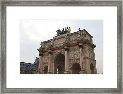 Louvre - Paris France - 01133 Framed Print