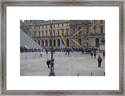 Louvre - Paris France - 01134 Framed Print