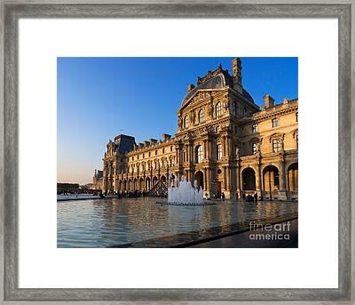 Louvre Pavilion De Richelieu  Framed Print