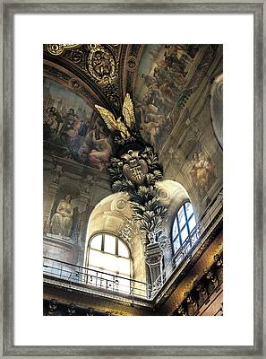 Louvre With A View Denise Dube Framed Print