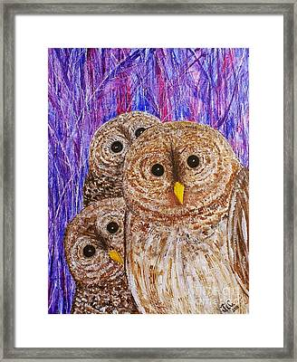 Framed Print featuring the painting Lovable by Jane Chesnut