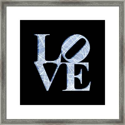 Love - Blue Framed Print