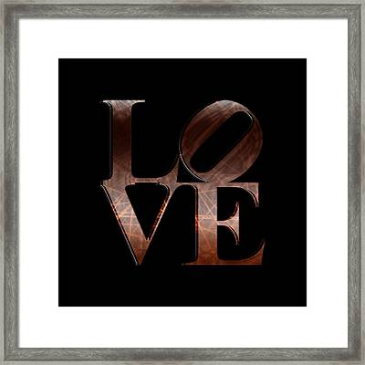 Love - Chocolate Framed Print
