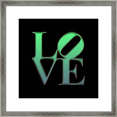 Love - Green Framed Print