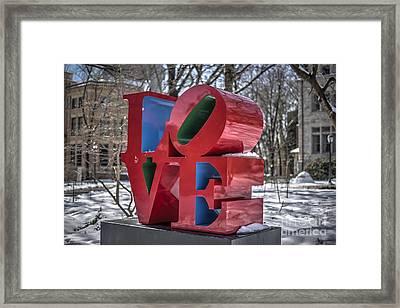 Love - Philadelphia Framed Print by Mark Ayzenberg