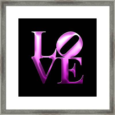 Love - Purple Framed Print