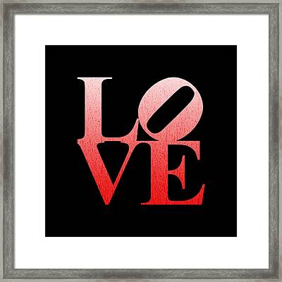Love - Red N White Framed Print