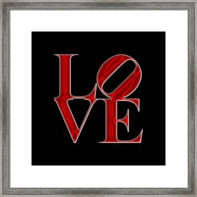 Love - Red2 Framed Print