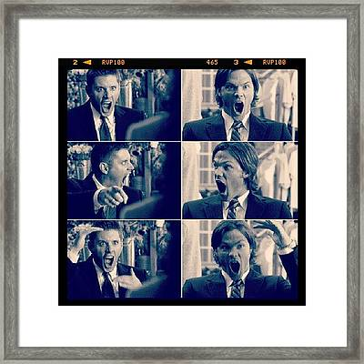 Love ♡♥♡ #supernatural Framed Print