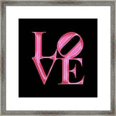 Love - Vibrant Red N Pink Framed Print