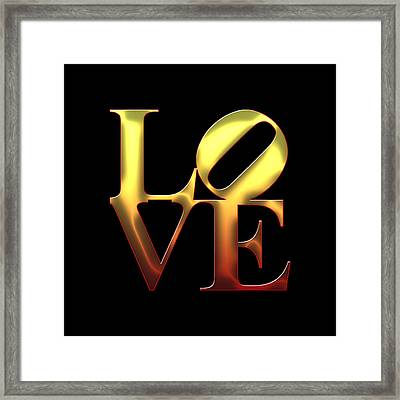 Love - Yellow N Orange Framed Print